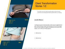 Client Transformation Stories M3100 Ppt Powerpoint Presentation File Example File