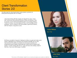 Client Transformation Stories M3101 Ppt Powerpoint Presentation Styles Files