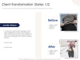Client Transformation Stories N423 Powerpoint Presentation Outfit