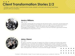 Client Transformation Stories Train M1637 Ppt Powerpoint Presentation Model Themes