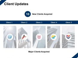 Client Updates Major Acquired Ppt Powerpoint Presentation Slides Example
