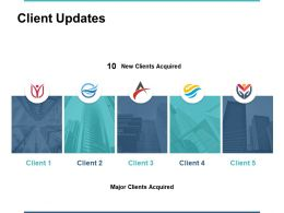 Client Updates New Clients Acquired Ppt Powerpoint Presentation File Slides