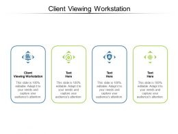 Client Viewing Workstation Ppt Powerpoint Presentation Icon Demonstration Cpb