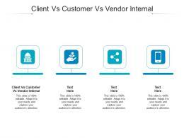 Client Vs Customer Vs Vendor Internal Ppt Powerpoint Presentation Styles Designs Cpb