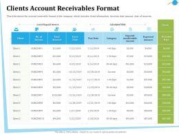 Clients Account Receivables Format Filds Ppt Powerpoint Presentation Slides Display