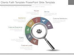 Clients Faith Template Powerpoint Slide Template