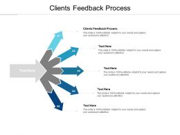 Clients Feedback Process Ppt Powerpoint Presentation Professional Diagrams Cpb