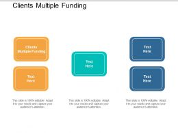 Clients Multiple Funding Ppt Powerpoint Presentation File Icon Cpb