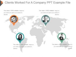 Clients Worked For A Company Ppt Example File