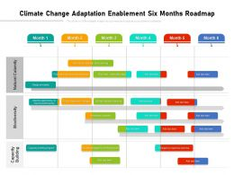 Climate Change Adaptation Enablement Six Months Roadmap