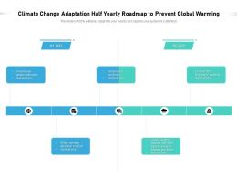 Climate Change Adaptation Half Yearly Roadmap To Prevent Global Warming