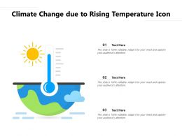 Climate Change Due To Rising Temperature Icon