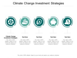 Climate Change Investment Strategies Ppt Powerpoint Presentation Icon Aids Cpb