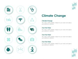 Climate Change Ppt Powerpoint Presentation Model Visuals