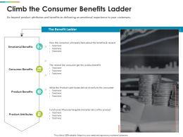 Climb The Consumer Benefits Ladder Attributes Ppt Graph Charts