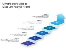 Climbing Stairs Steps To Make Data Analysis Report