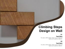 Climbing Steps Design On Wall