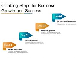 Climbing Steps For Business Growth And Success