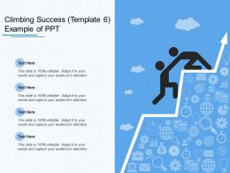 Climbing Success Example Of Ppt