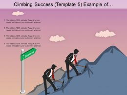 Climbing Success Example Of Ppt Presentation
