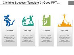 Climbing Success Good Ppt Example