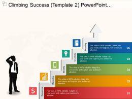 Climbing Success Powerpoint Graphics