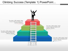 Climbing Success Powerpoint Presentation
