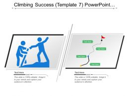 Climbing Success Powerpoint Presentation Templates