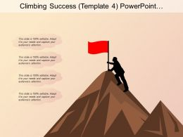Climbing Success Powerpoint Templates