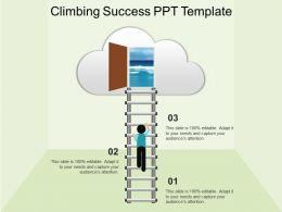 Climbing Success Ppt Template