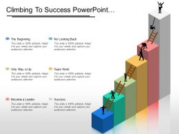 Climbing To Success Powerpoint Presentation Examples