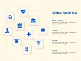 Clinical Anesthesia Ppt Powerpoint Presentation Professional Show