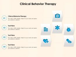 Clinical Behavior Therapy Ppt Powerpoint Presentation Styles