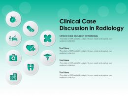 Clinical Case Discussion In Radiology Ppt Powerpoint Presentation Icon Themes