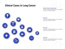 Clinical Cases In Lung Cancer Ppt Powerpoint Presentation Pictures Master Slide