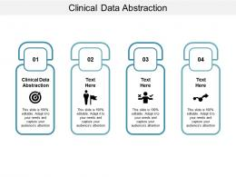 Clinical Data Abstraction Ppt Powerpoint Presentation Show Samples Cpb
