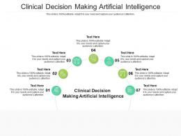 Clinical Decision Making Artificial Intelligence Ppt Powerpoint Cpb