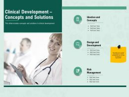 Clinical Development Concepts And Solutions M2415 Ppt Powerpoint Presentation Outline Display