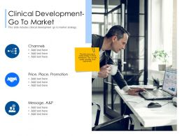 Clinical Development Go To Market Message Ppt Powerpoint Presentation Styles Graphic Tips