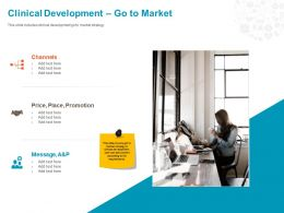 Clinical Development Go To Market Ppt Powerpoint Presentation File Example