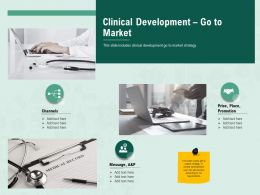 Clinical Development Go To Market Price M2416 Ppt Powerpoint Presentation Graphics