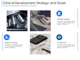 Clinical Development Strategy And Goals Attention Ppt Powerpoint Presentation Styles Designs