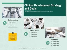 Clinical Development Strategy And Goals M2418 Ppt Powerpoint Presentation Outline Slideshow