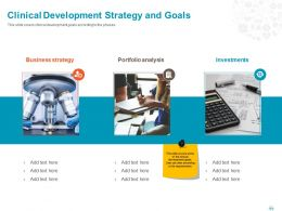 Clinical Development Strategy And Goals Ppt Powerpoint Presentation File Icon