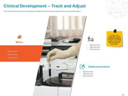 Clinical Development Track And Adjust Ppt Powerpoint Presentation File Infographics