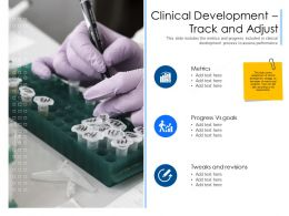 Clinical Development Track And Adjust Vs Goals Ppt Powerpoint Presentation Professional