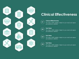 Clinical Effectiveness Ppt Powerpoint Presentation Layouts Background Image