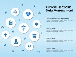 Clinical Electronic Data Management Ppt Powerpoint Presentation Summary Graphics Template