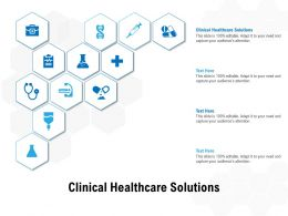 Clinical Healthcare Solutions Ppt Powerpoint Presentation Professional Background Image