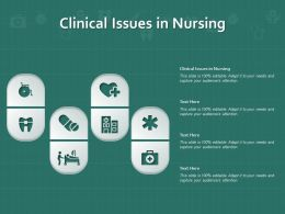 Clinical Issues In Nursing Ppt Powerpoint Presentation Infographic Template Rules